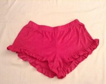 Cute terry cloth ruffle shorts