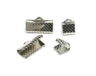 Clamp Ribbon End Mixed Silver 120 per package