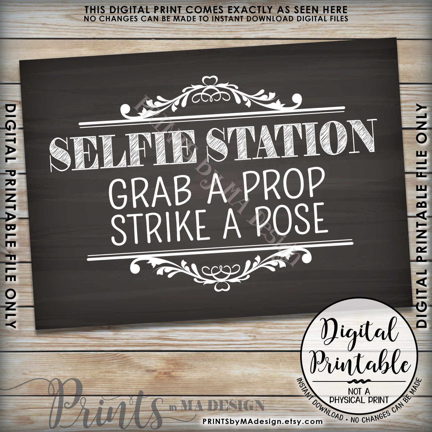 This is a graphic of Mesmerizing Selfie Station Sign Free Printable