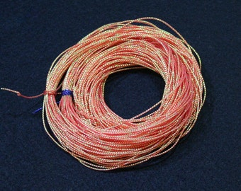 36 yards - 1mm Orange Metallic Thread