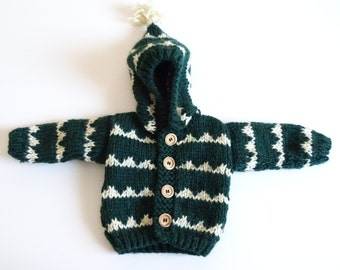 Hooded coat - Hoodie - baby jacket - size 0-3 months