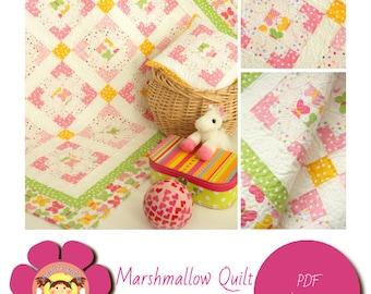 Digital pdf - Quilt Pattern - Baby Quilt - Lap Quilt - Easy Quilt Pattern