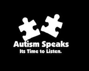Autism Speaks Window sticker