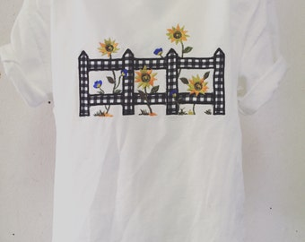 90s sunflower croptop tshirt