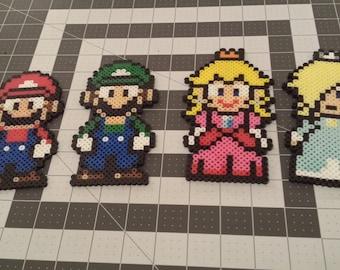 Custom Super Mario Bros Perler Bead Sprites Nintendo