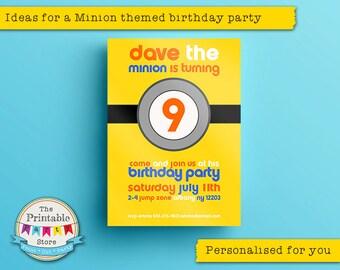 Minions Invitation | Minions Party Invitation | Minion Invitation | Printable Invitation | Minion birthday party supplies | PRINTABLE