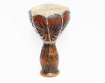 Leather Drum, Ceramic Drum, Bedouin Drum, Decorated Darbuka, Egyptian Darbuka Drum, Doumbek Tombak