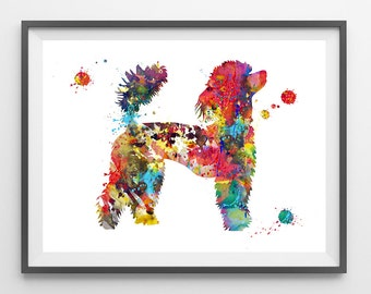 French Poodle dog watercolor print French Poodle dog Illustration french poodle print Wall art french poodle dog poster wall Decor [91]
