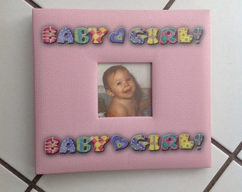 """Baby Girl Scrapbook Album ( for 8"""" X 8"""" page layouts)"""