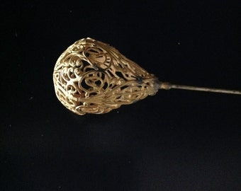 Vintage Gold Filagree Hat Pin