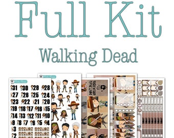 The Walking Dead Collection - Disney Planner Stickers