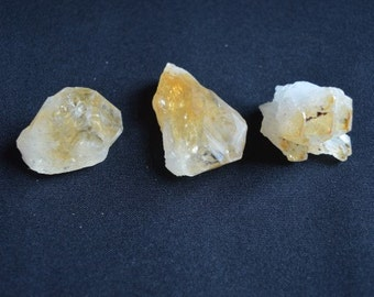 4 Citrine Crystal Points for healing, Reiki and meditation
