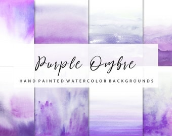 Ombre watercolor, purple ombre, backgrounds, for personal and small commercial use