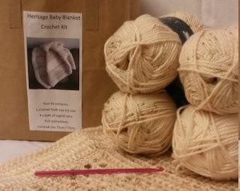 Heritage Baby Blanket crochet kit.