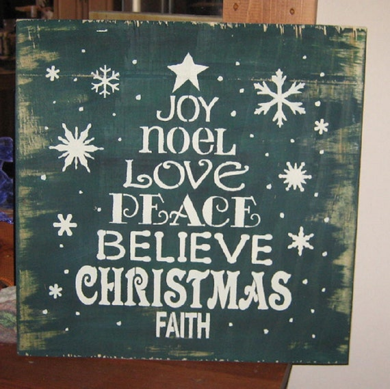 Wood Christmas Tree Craft