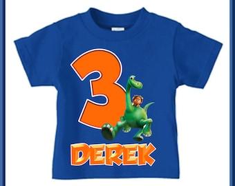 The Good Dinosaur Birthday Shirt - Boys Raglan Shirt Available