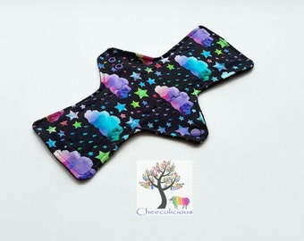 Kaleidoscope Sky -Jersey fabric - Custom Order Reusable Cloth Pad – CSP - Cloth Menstrual Pads -  Mama Cloth - Windpro Backing