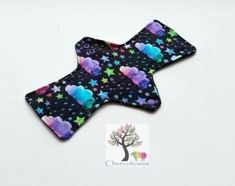 Kaleidoscope Sky -Jersey fabric - Custom Order Reusable Cloth Pad – CSP - Cloth Menstrual Pads -  Mama Cloth - Windpro Backing