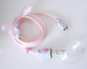 lamp lamp pink in knitting mill and LIBERTY pink Bliss, knitting mill