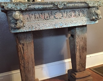 Antique console table, Console Table, Side table, Antique Table, Table, Coffee Table, Antique British Colonial Conole Table