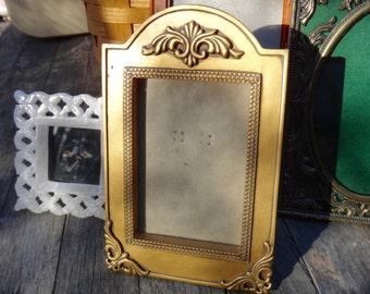 Gold Frame, Arched Frame, Regency Frame, Tabletop Frame, Picture Frame, Photo Frame, Man Cave, Dude Find, Frame with Arch, Retro Frame