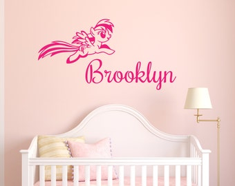 My Little Pony Wall Sticker   PERSONALISED   Thunder Cloud Pony REMOVABLE Part 44