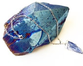 Kyanite Necklace, Blue Kyanite, Metaphysical, Positive Vibes, Healing Energy, Balance, Meditation, Grounding, Protection Stone, Psychic
