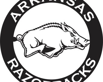 Arkansas Razorback // Metal Sign