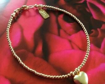 Gold fill bracelet Goldfilled bracelet Gold bracelet Gold ball bead bracelet Minimalist bracelet Dainty bracelet.