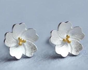 stud earrings silver stud earrings tiny stud earrings delicate daisy studs