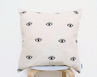 Dorm decor eye pillow,dorm room decor,christmas gifts for her,dorm pillow,bohemian pillow, boho pillow,dorm decor,scandinavian pillow,