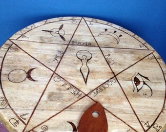 Wiccan Spirit Board Table