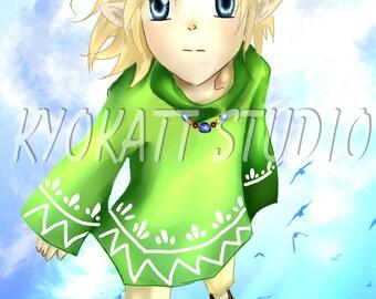legend of Zelda 11×17 poster