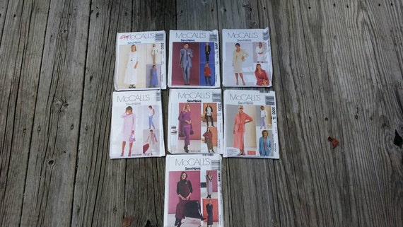 Set of Sewing Patterns, Craft Patterns, McCalls patterns, Sewing Supplies, Craft Supplies, Women's Clothing Patterns, 2000s patterns
