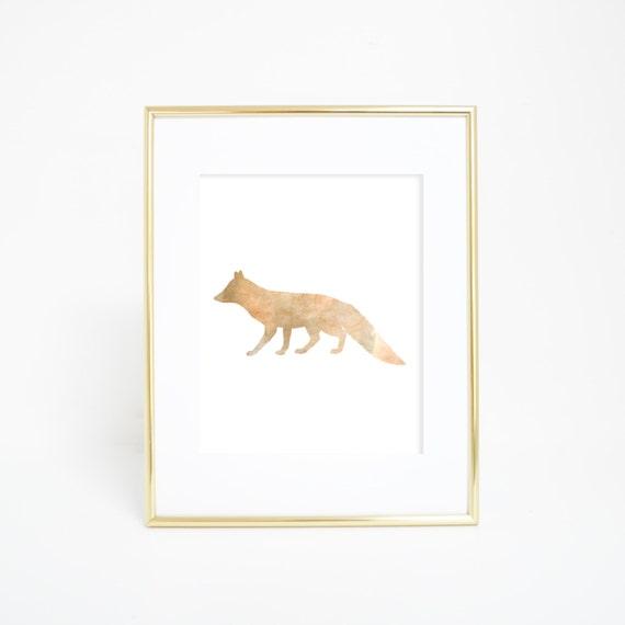 Fox Print, Fox Wall Art, Digital Download Print, Wall Print, Digital Download, Printable Wall Art, Woodland Decor, Digital Prints, Fox Decor