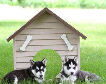 Wooden Dog House Photo Prop