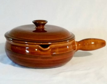 Vintage NASCO Brittany Covered Casserole Baking Dish