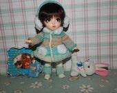 "PukiFee Aquarius Lati Yellow 15-16 сm BJD Set ""Warm beauty"" for dolls of Tiny format"