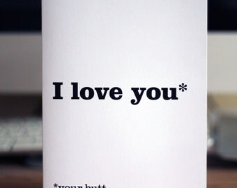 Love card / I love your butt
