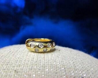14K Yellow Gold Earrings With Diamonds