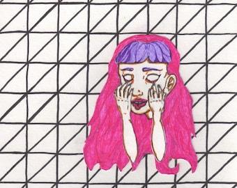Tumblr Girl (#2) - Giclee - Framed