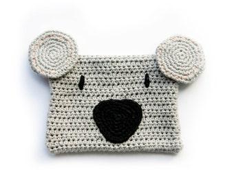 Koala Clutch // Original animal clutch of crochet