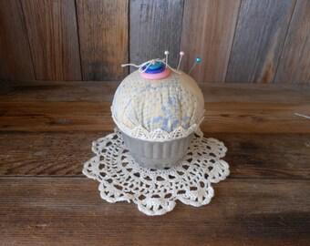 Pincushion, Pin Cushion, Repurposed Quilt, Sewing Accessories, Pincushion with Pins 5