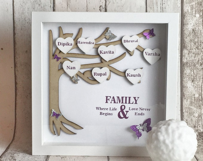 Small personalised family tree