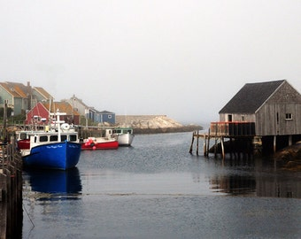 Boats in Peggy's Cove Harbor, Nova Scotia, Canada