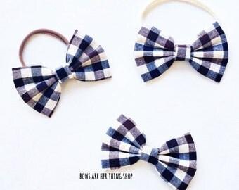 CHECKERED bow