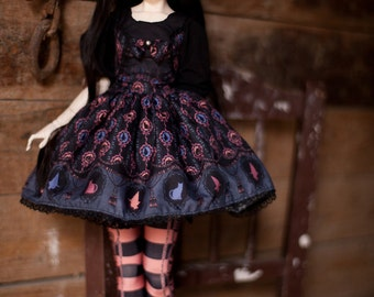 cats and witches SD / MSD / Yo-SD lolita dress set