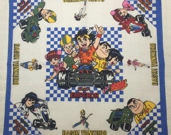 Vintage child's Handkerchief Dash! Yonkuro Japanese manga series created by Zaurus Tokuda