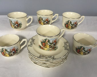 WS George Espresso Cup and Saucer 12-pc set
