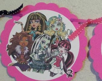 Monster High Birthday Banner, Monster High, Monster High Banner, Monster High Party, Monster High Decor, Monster High Supplies, Monster